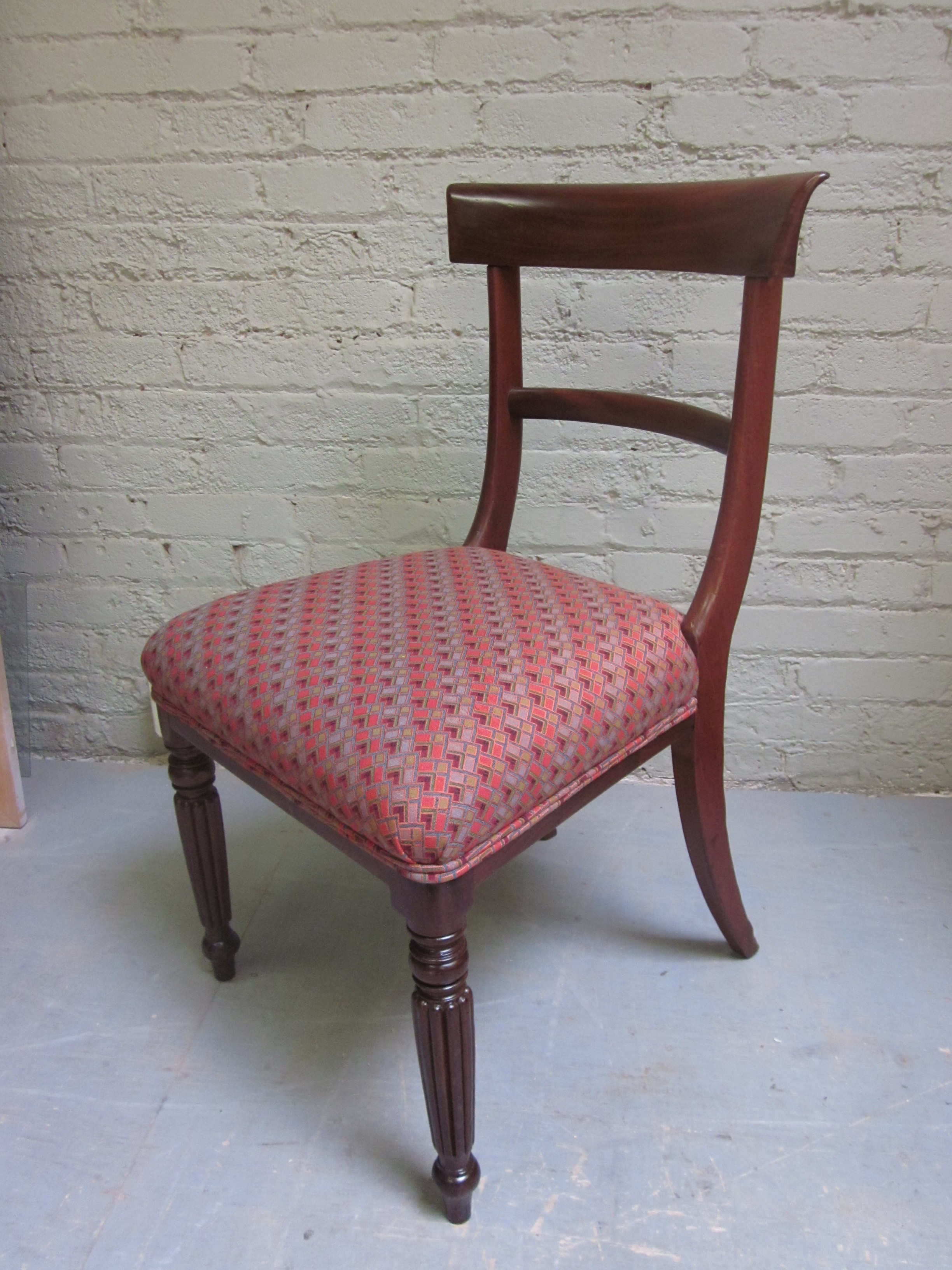 victorian chair refinished and re-upholstered