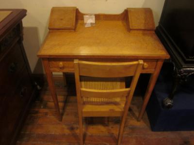 birdseye maple desk and chair