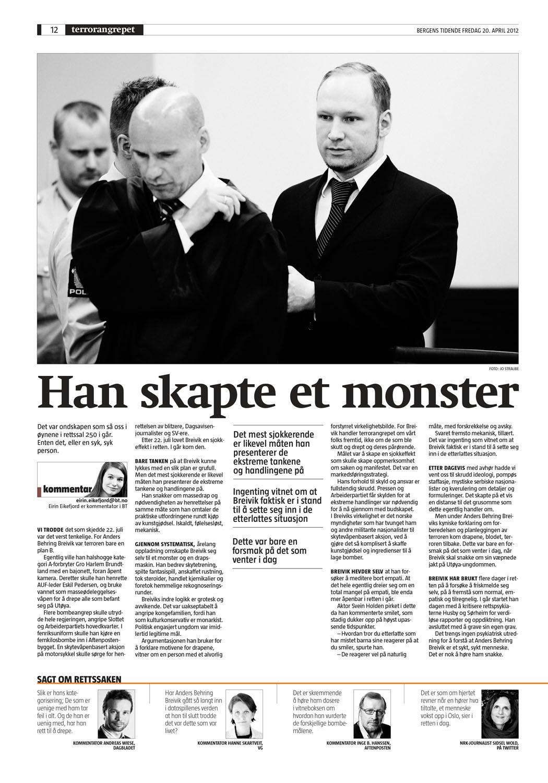 Bergens Tidende, 20.4.2012