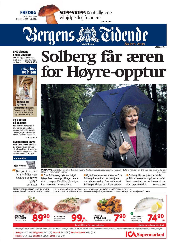 Bergens Tidende 28.8.2009