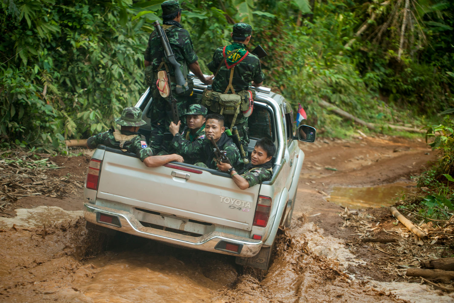 Democratic reforms opens Myanmar, also known as Burma, up to foreign investment and much needed economic development. But the longest-lasting civil war in the world is not yet over and the challenges standing in line.  KNU-soldiers, Karen state (2014)