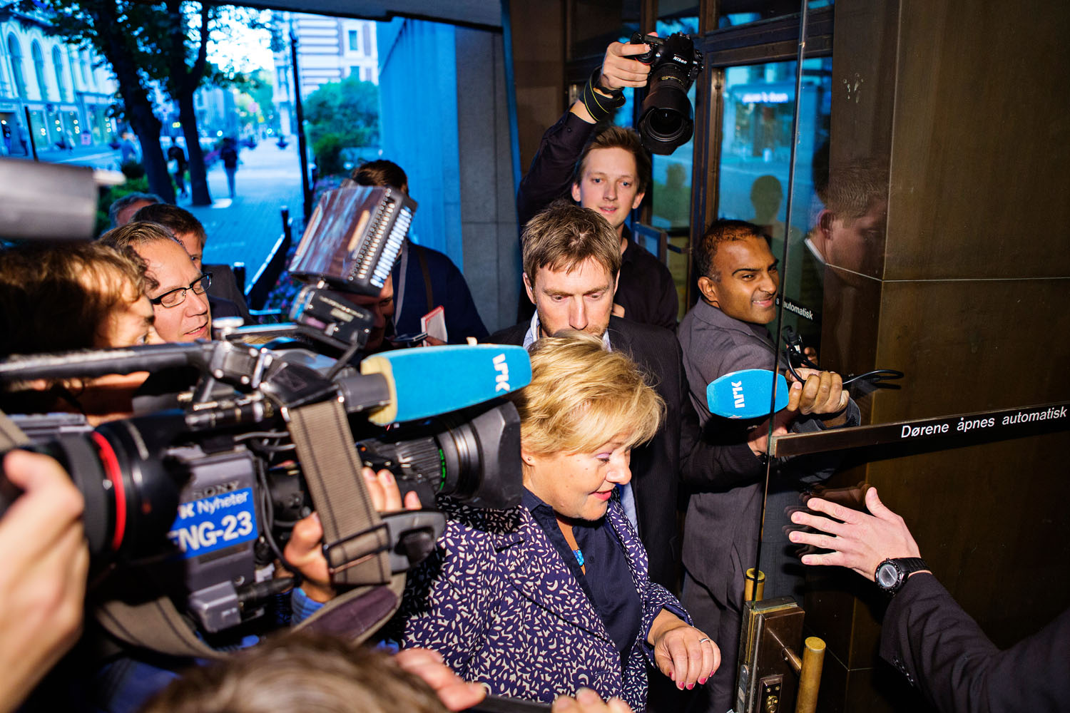Erna Solberg, during election 2013