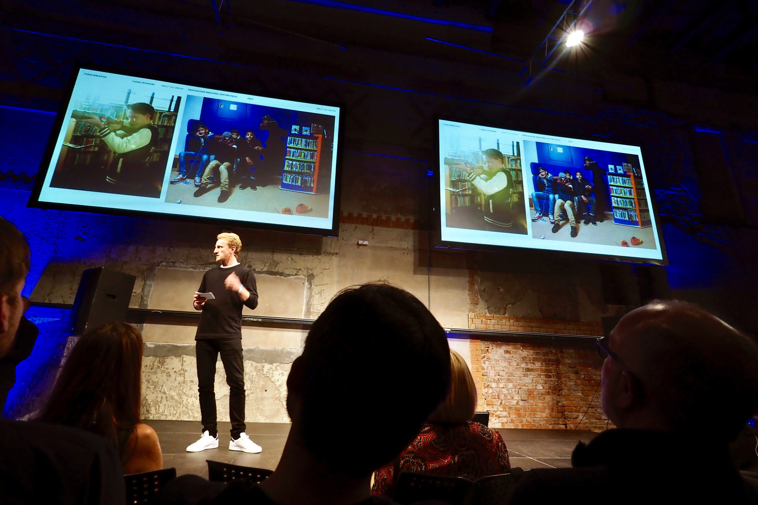 Presentation of «The Norwegian Library» in 6 minutes and 40 seconds... Puh! Can be watched at  Aftenposten TV .
