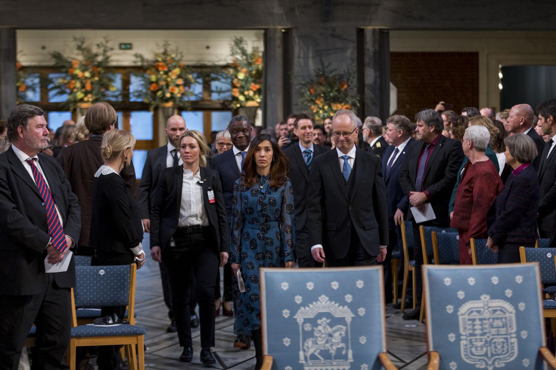 The 2018 Nobel Peace Prize was awarded to Denis Mukwege and Nadia Murad. Photographed on behalf of The Norwegian Nobel Institute.