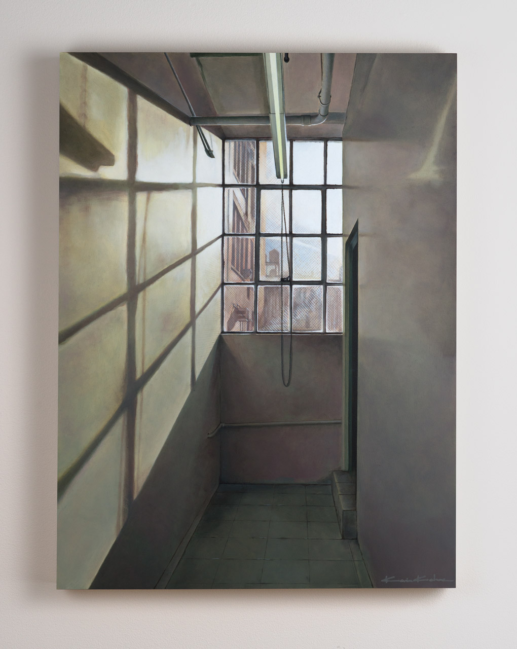 SOLD  Title: Four o' clock on West 26th (A)  18 x 24, Oil on Board