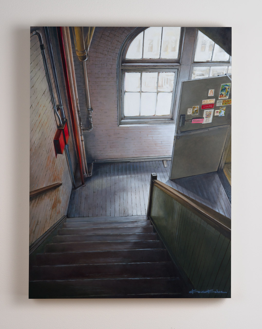 SOLD  Title: Window Light on West 27th.  18 x 24, Oil on Board
