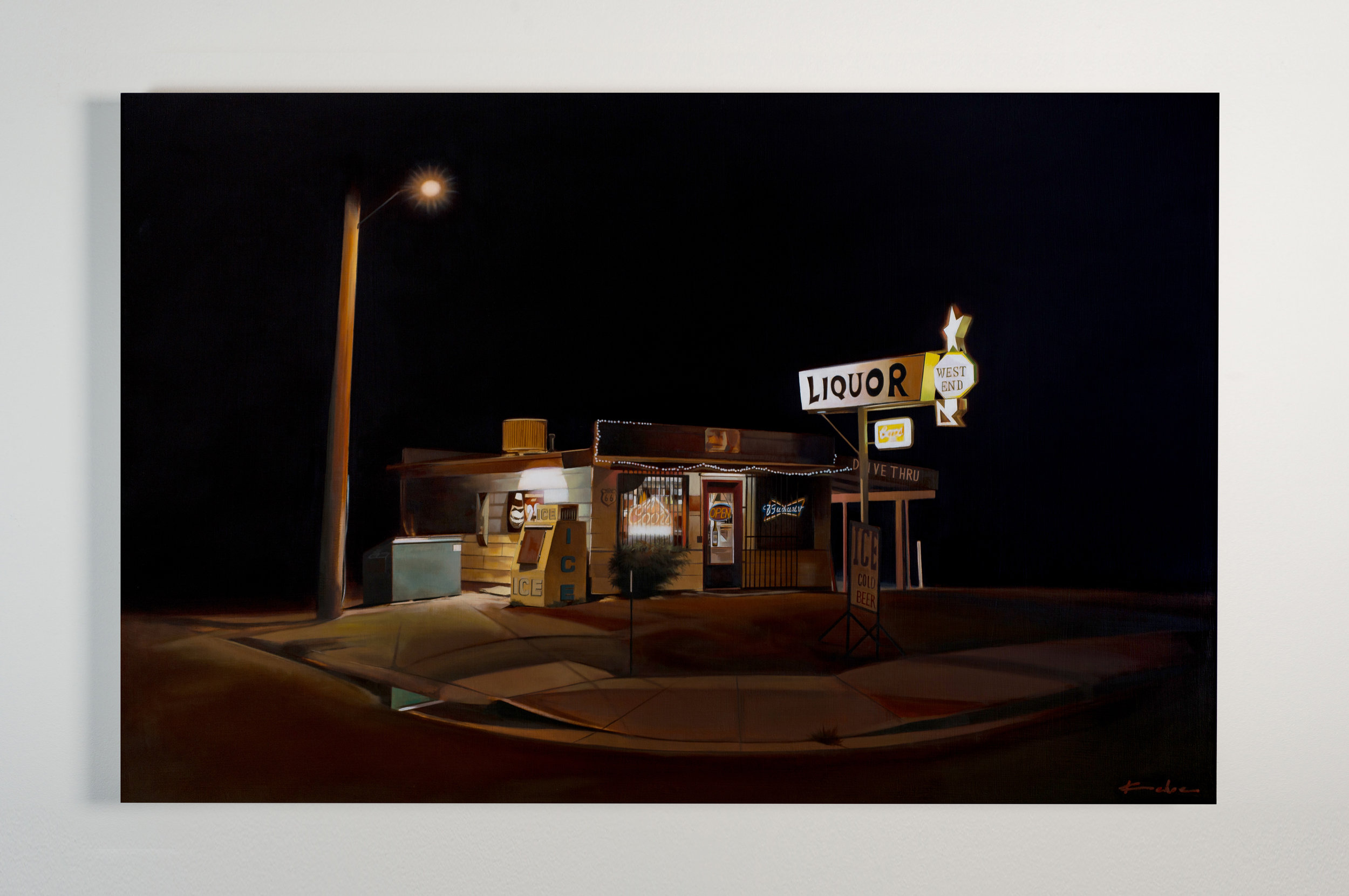 Title: WEST END  26 x 40, Oil on Board  SOLD