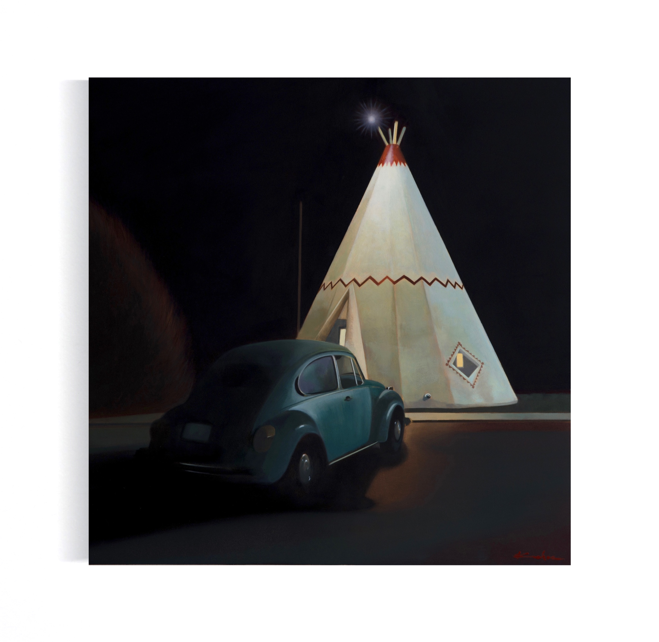 Title: WIGWAM ROOM NO. 6  16 X 16, Oil on Board  Available at Altamira Fine Art in Jackson, WY