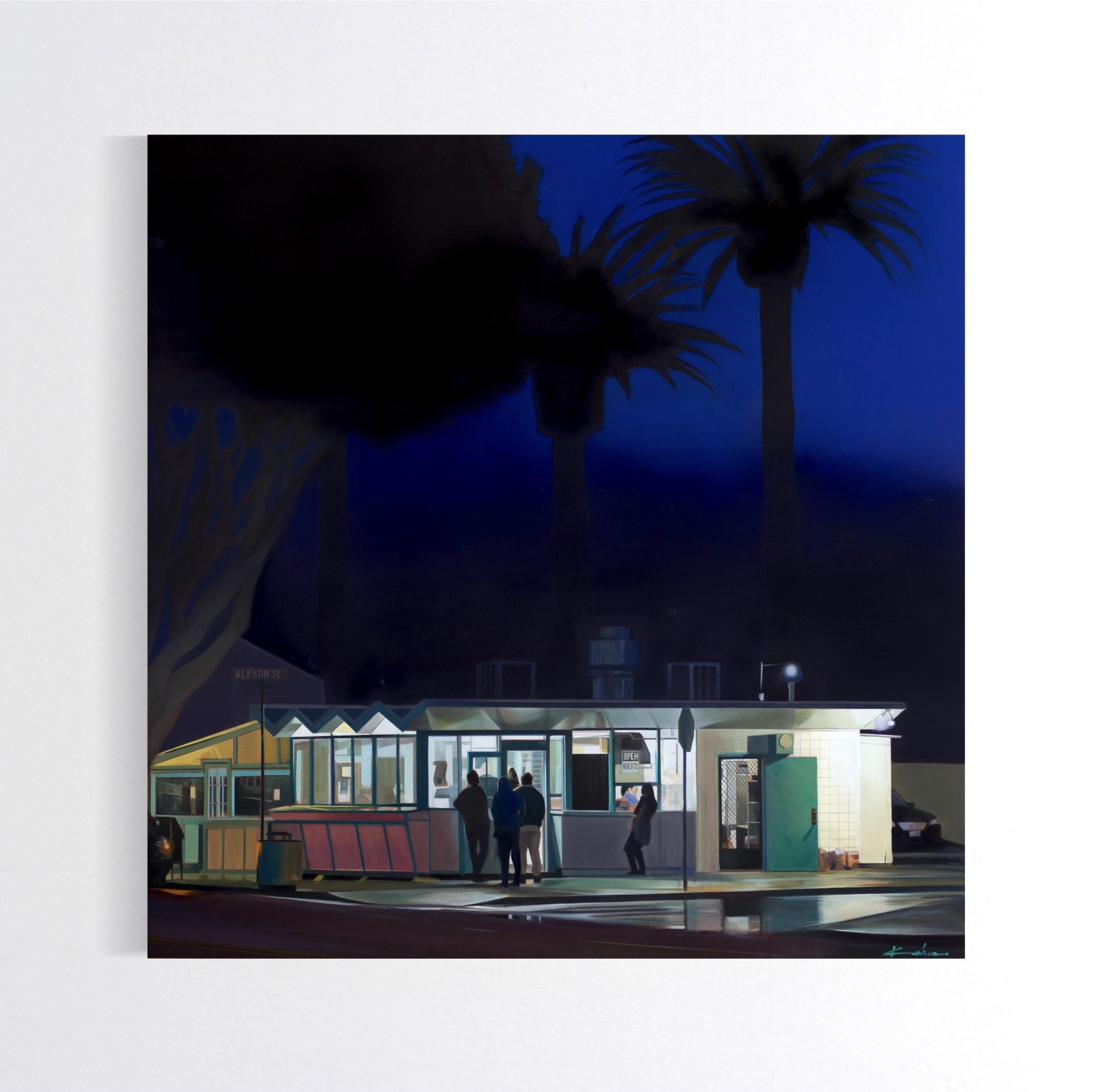 Title: LA TAQUERIA  28 X 28, Oil on Board  Available at Altamira Fine Art in Scottsdale, AZ