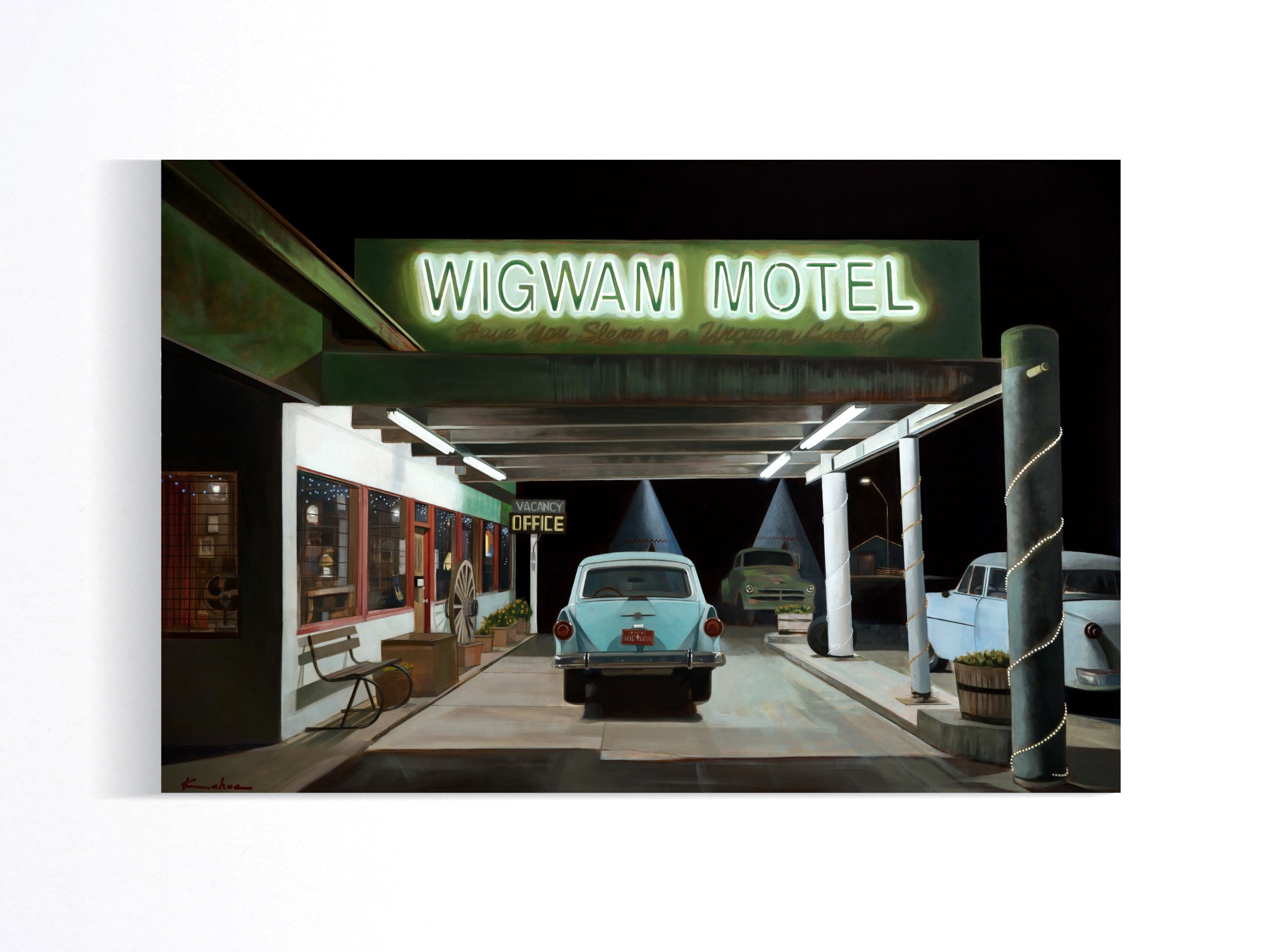 Title: WIGWAM  20 X 30, Oil on Board  SOLD