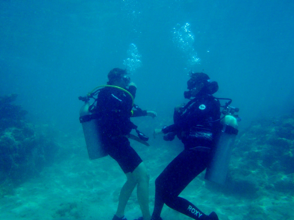One-on-one attention while learning to dive