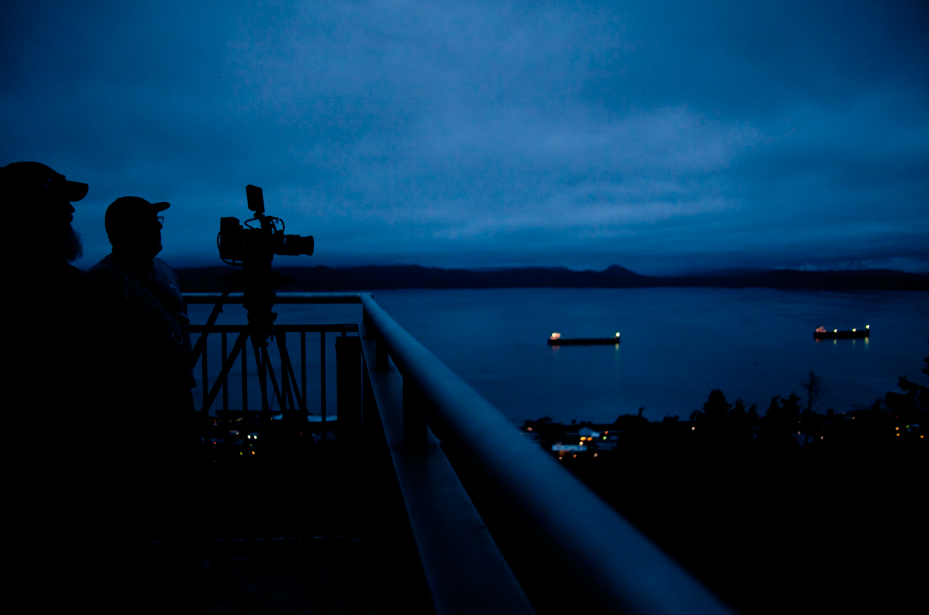 Early morning with Barney in Astoria, Oregon.    Photo by Jesse Flemming