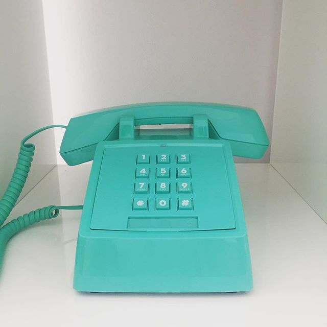 Feeling very important making calls from our new #studio landline.  Wish they made this thing cordless.