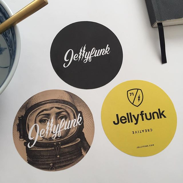 Cereal and some fresh Jellyfunk stickers.