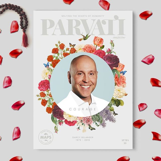 Designing this month's issue of Parvati Magazine was a true #honour as we pay tribute to an environmental leader and dear friend to many of us #bedarcy #signmaps  #Repost @parvatiofficial ・・・ There is no way to measure the value of a life. The thought feels like trying to fit the infinite into a teaspoon. This issue of Parvati Magazine is dedicated to dear friend and colleague Darcy Belanger, Director of Strategic Initiatives at Parvati.org. It is the recounting of Darcy's journey as a champion for MAPS through the eyes and hearts of all of us who have worked alongside him over the years. May you be inspired by the courage with which he lived and his lasting effect on us and the world. (link in bio)   Gratitude to the fabulous @Jellyfunk_creative, who generously designed the issue.  #parvatiofficial #positivepossibilities #parvatimagazine #courage #legacy #faith #infinite #light #selflove #mentor #journey #heroesjourney #friendship #guidance #personalgrowth #spiritualgrowth