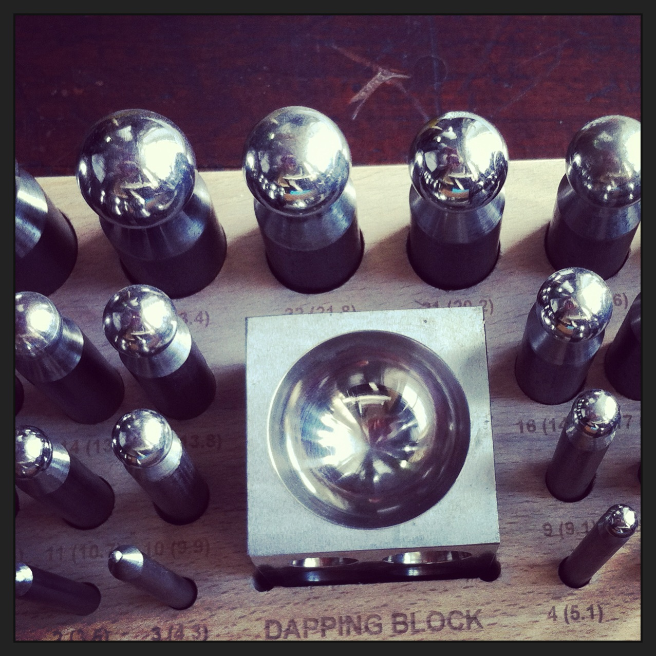 Oh yes - lovely shiny bits of steel #dapping_block