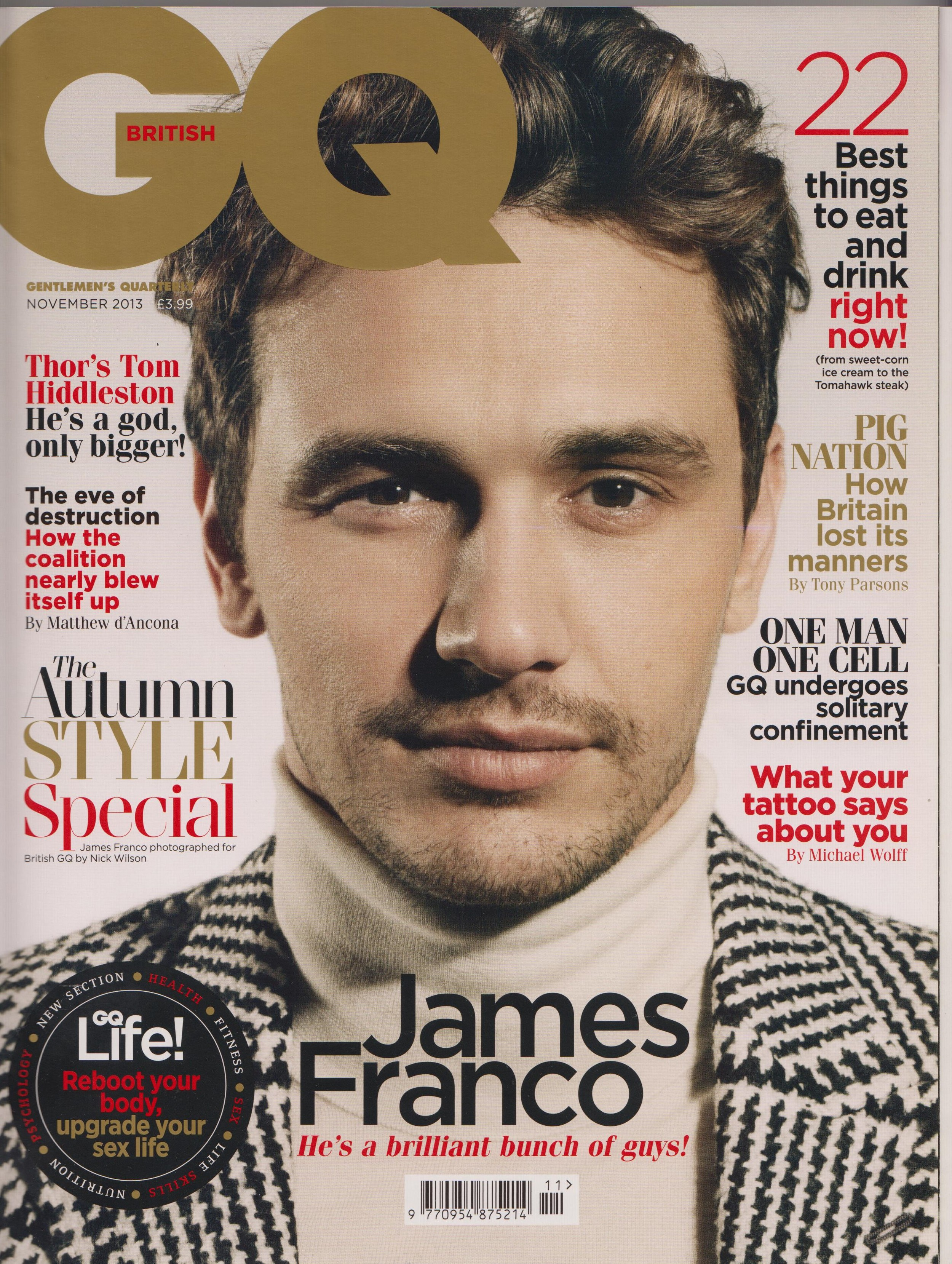 Cover of GQ - Nov 2013