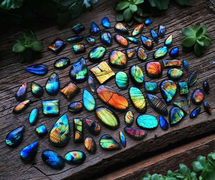 The amazing array of colours and patterns found in labradorite.