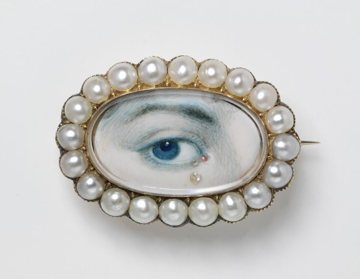 Eye Miniature, early 19th century. Courtesy of Victoria and Albert Museum, London.