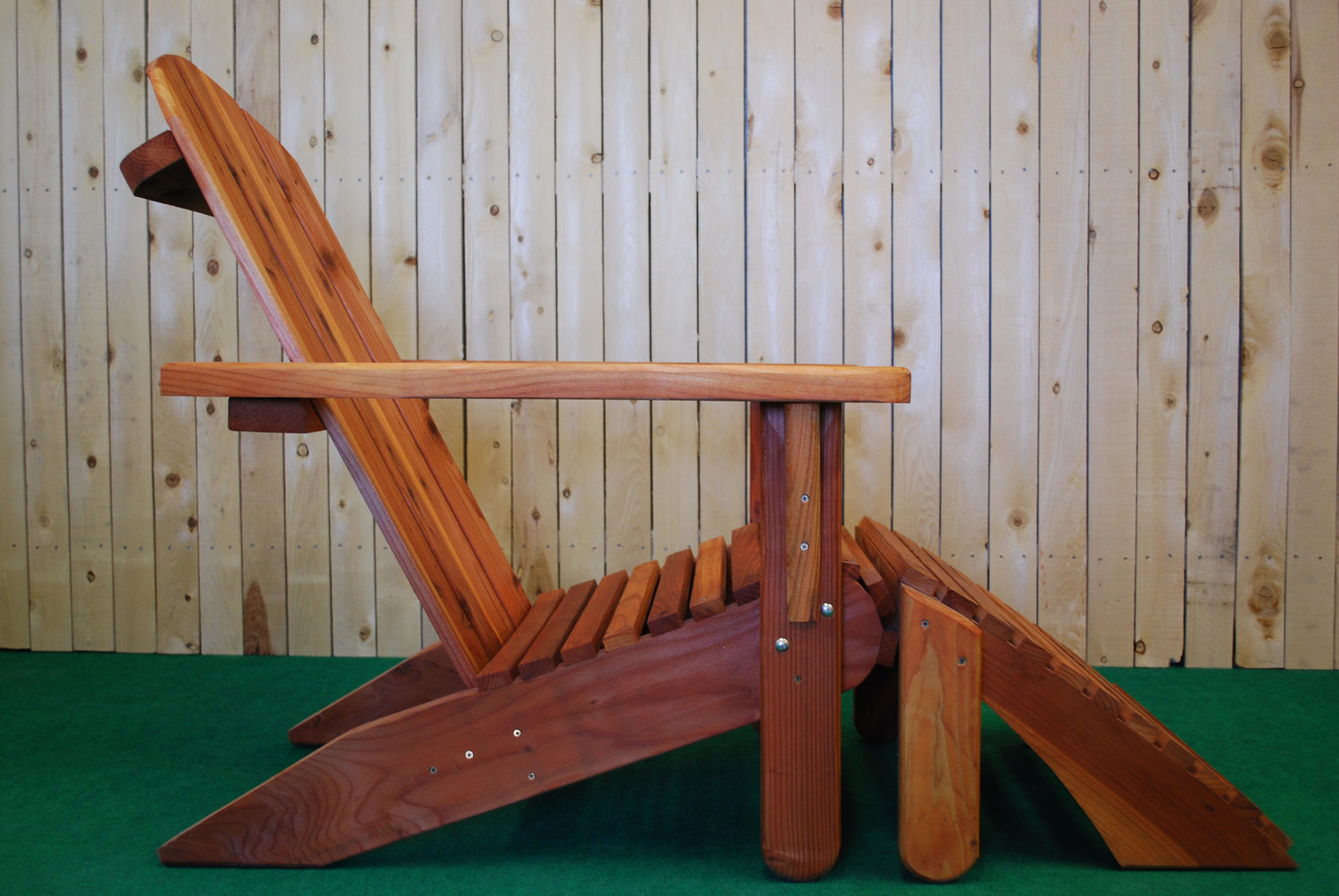 redwood adirondak chair