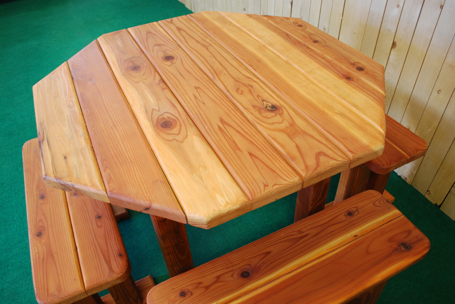 """48"""" octagon redwood table"""