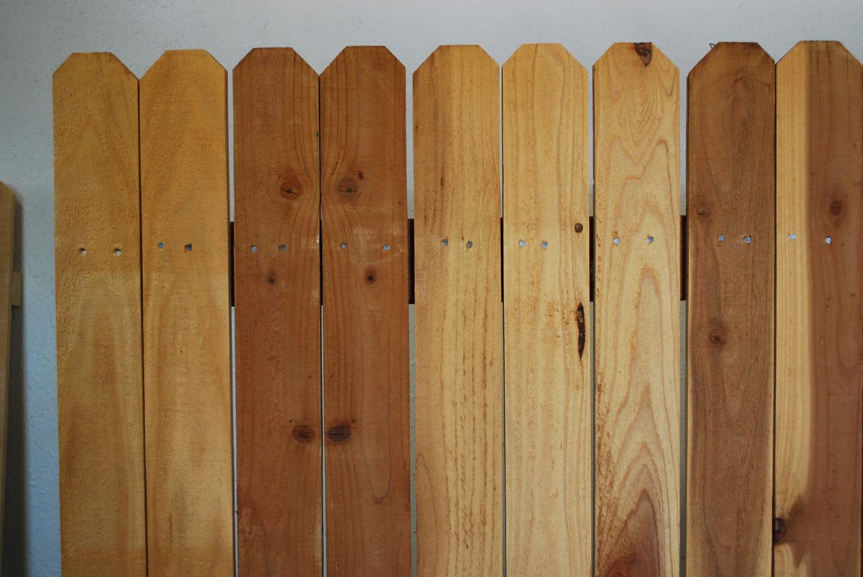 redwood fence panel