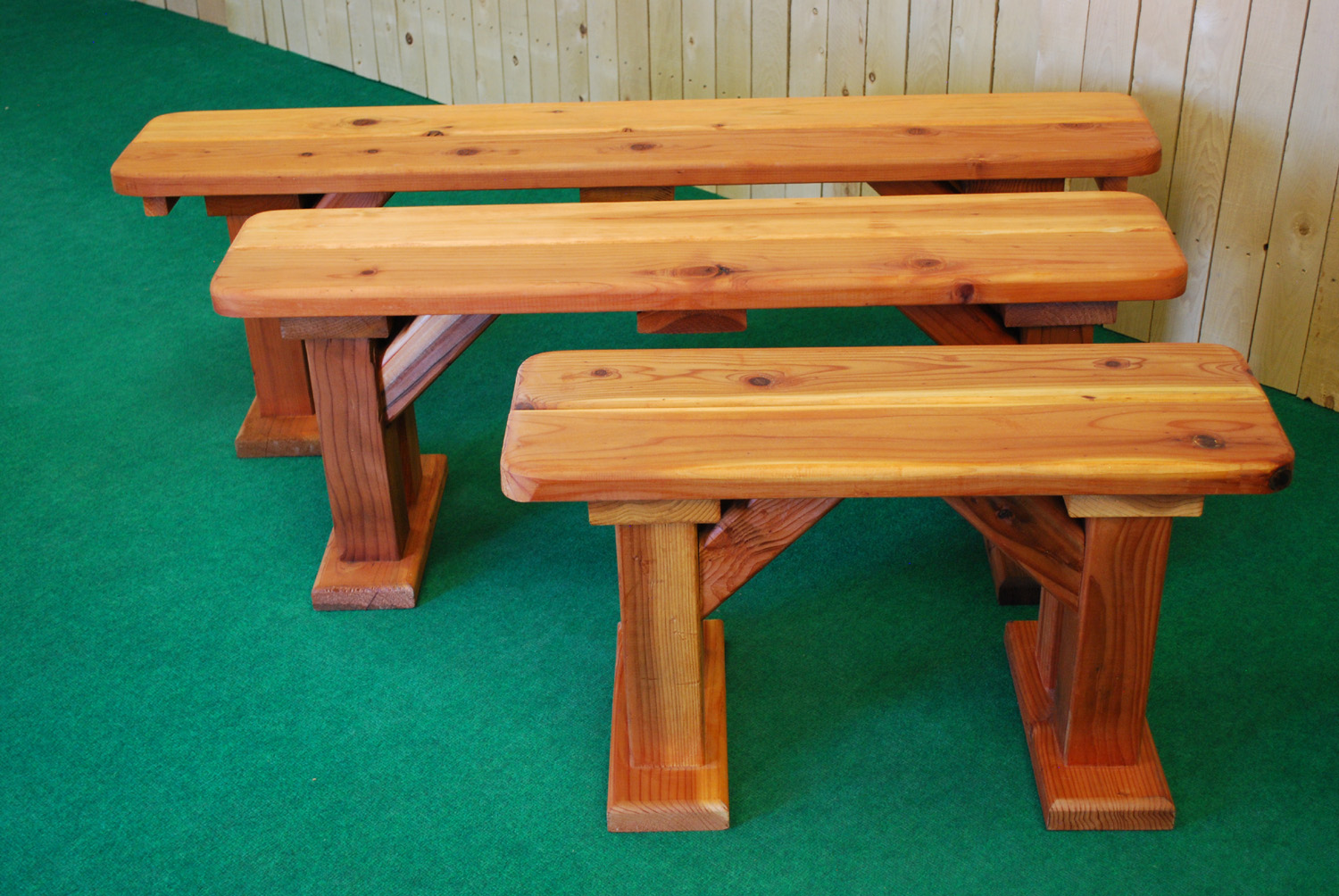 redwood picnic table benches