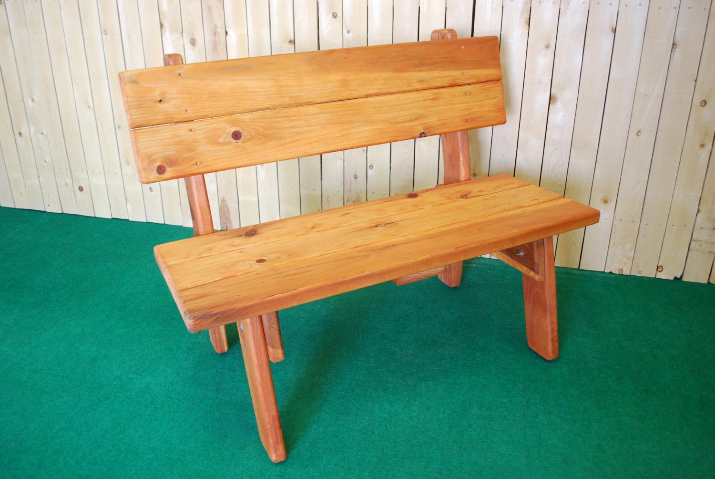 redwood park bench