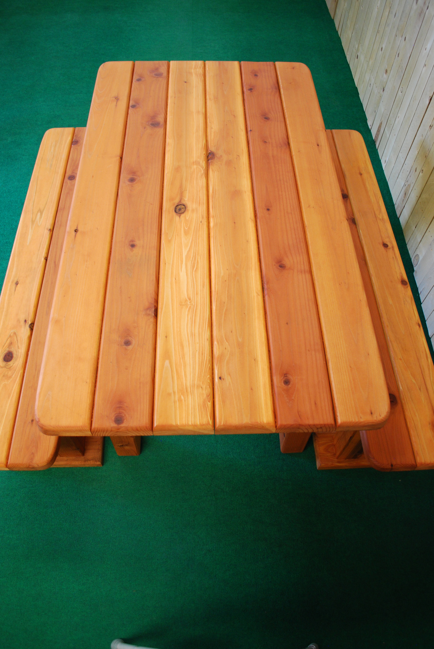 """60"""" redwood rectangle picnic table"""