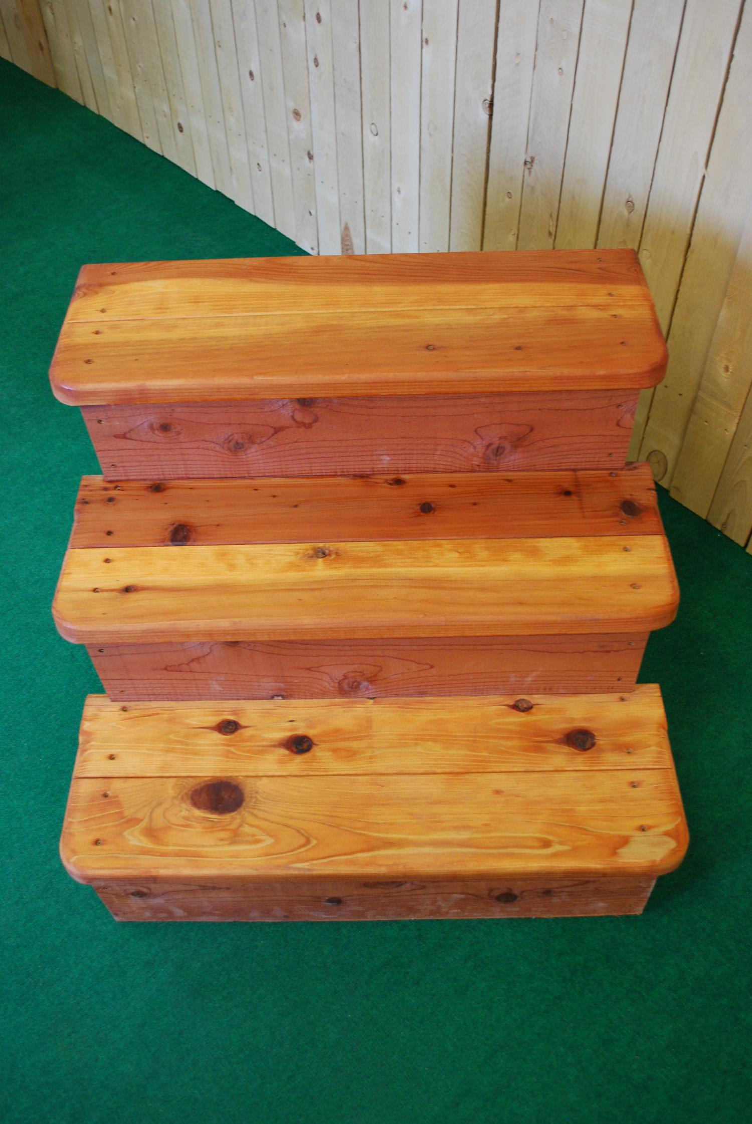 redwood spa steps