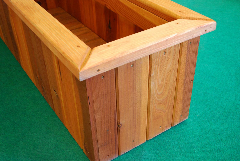 redwood rectangle planter