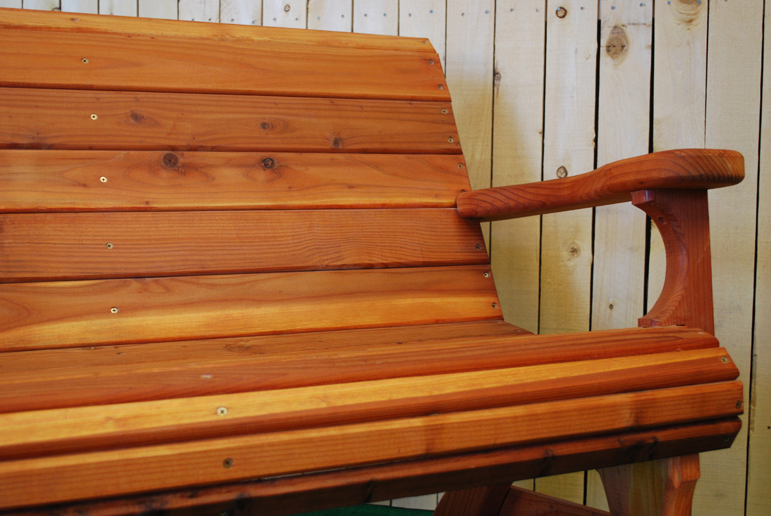 redwood love seat