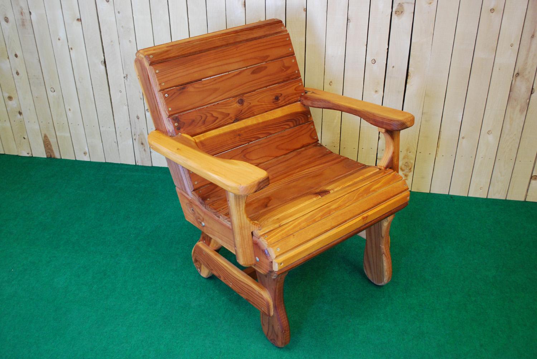redwood arm chair