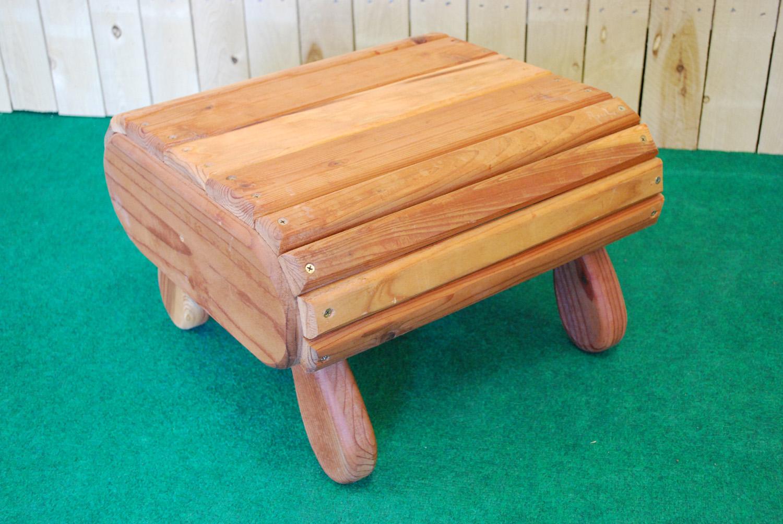redwood footstool