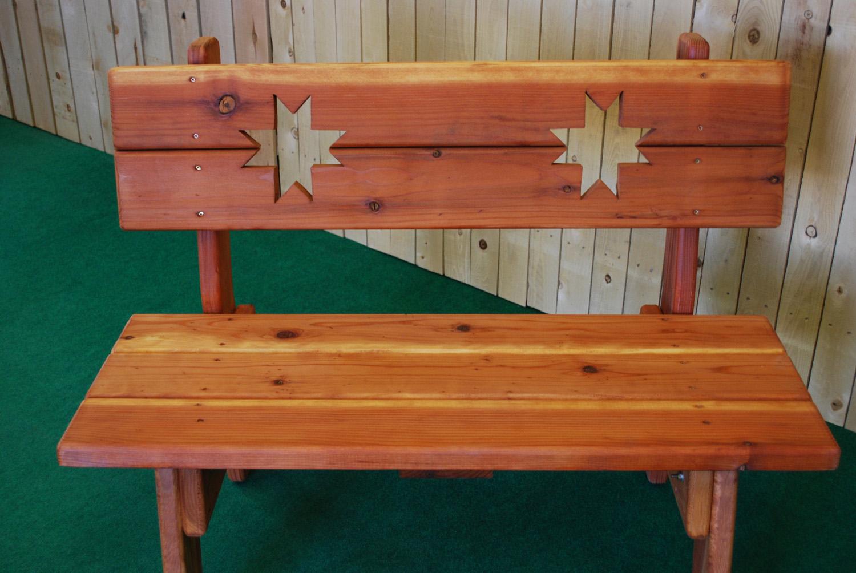 redwood ohio star bench