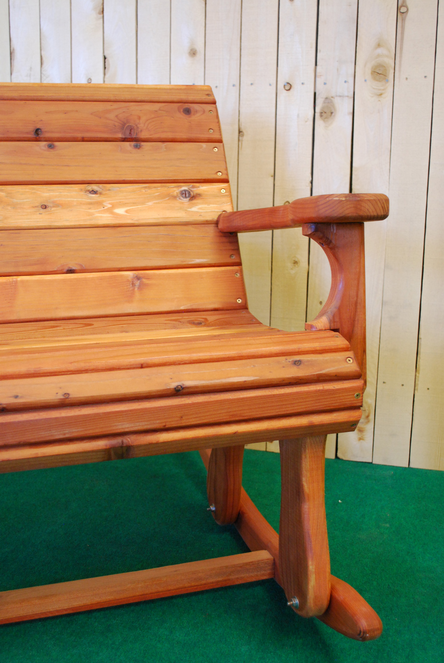 "48"" redwood rocker"