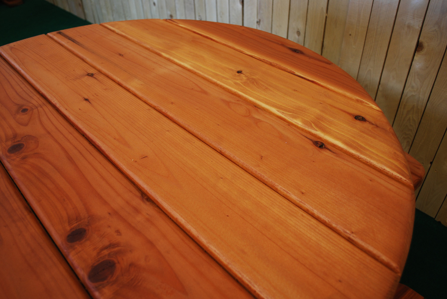 """48"""" redwood round picnic table"""