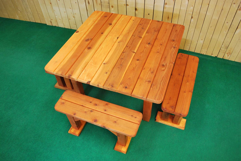 "48"" redwood square picnic table"