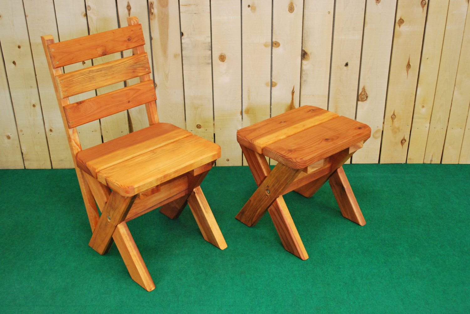 redwood bistro chair and stool