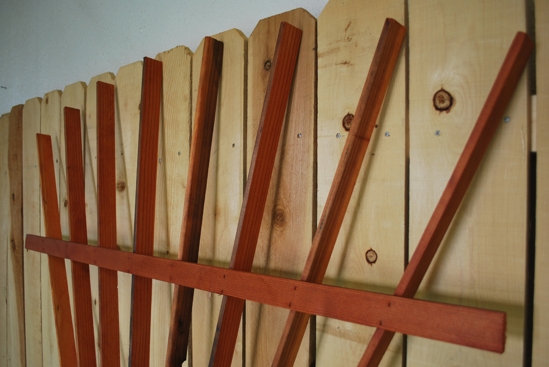 redwood fan trellis