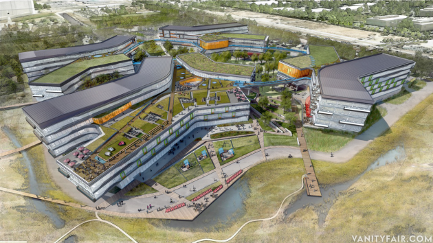 """FROM NBBJ. Plans for the new """"Googleplex"""" headquarters."""