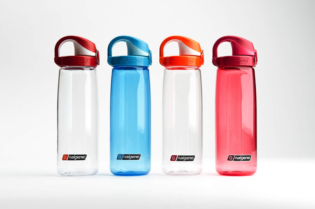 This water bottle by Nalgene is perfect for everyday use. It's narrow enough to fit comfortably in your hand and is simple to drink from (no squeezing or straws like some sports bottles that are more suited for the trail or the gym). Plus the lid has a back-up locking clip so you feel confident that you can throw it in your bag and it won't spill!