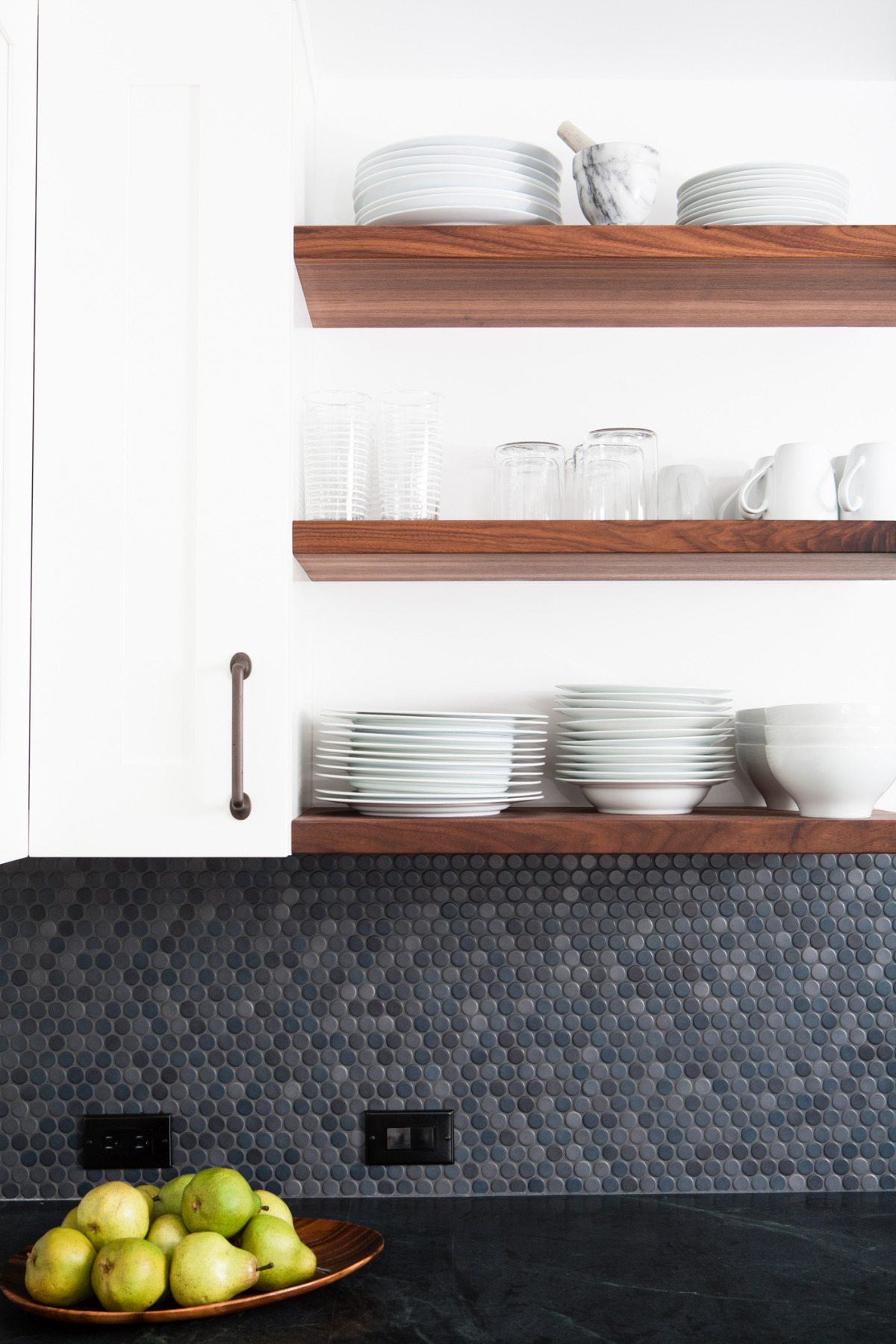 Soapstone countertops in our former house in San Francisco.