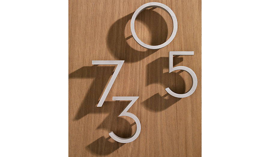 For a modern look, these numbers from Design Within Reach are gorgeous and come in three colors.