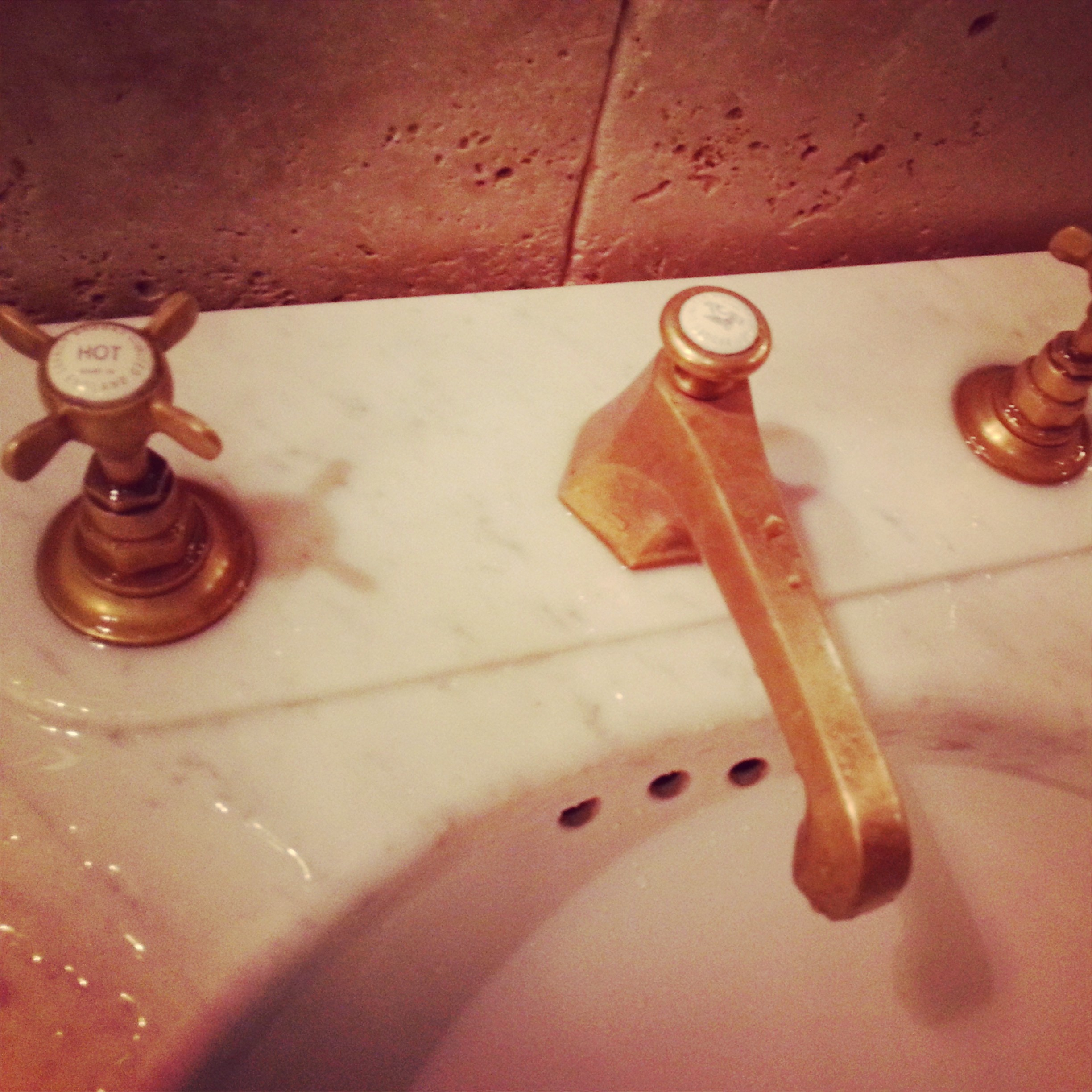 Vintage-inspired faucet at one of the many amazing restaurants we visited - I can't remember which.