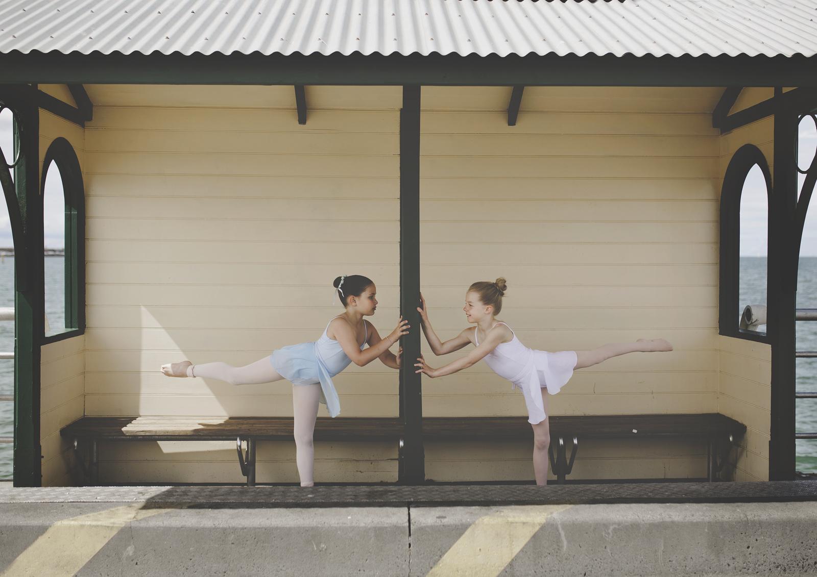 St Kilda Beach ballet dancing!