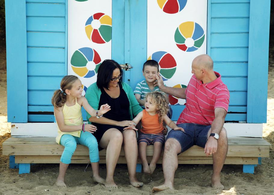 Family fun at Brighton Beach!