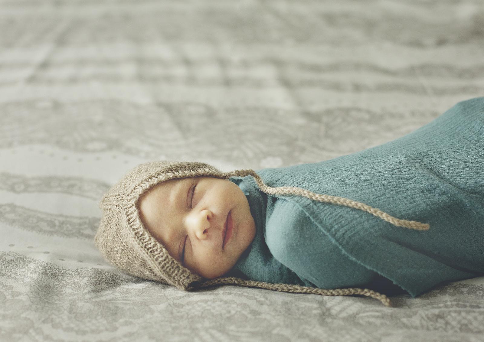 Handsome newborn baby boy!