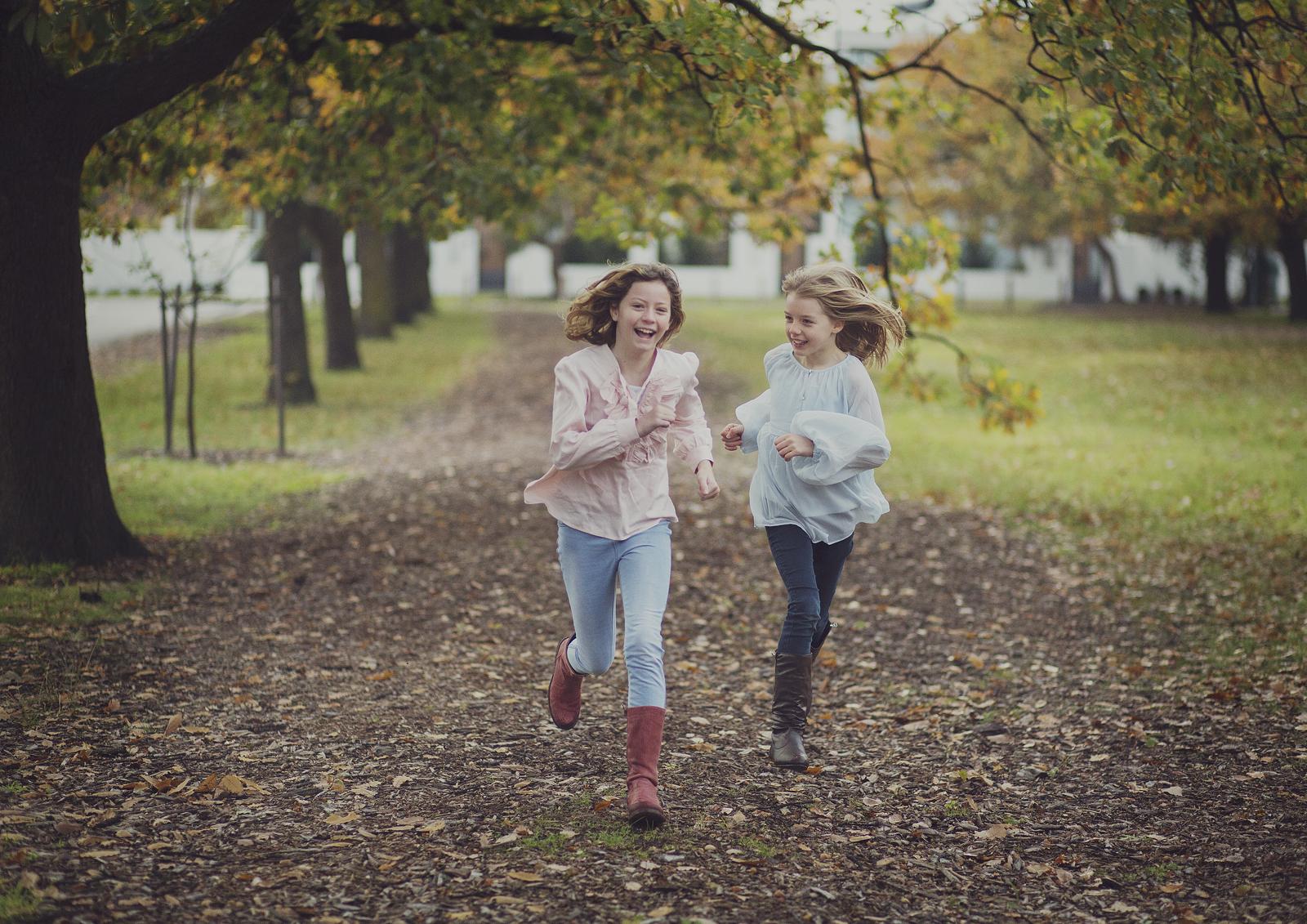 Children running at the park!