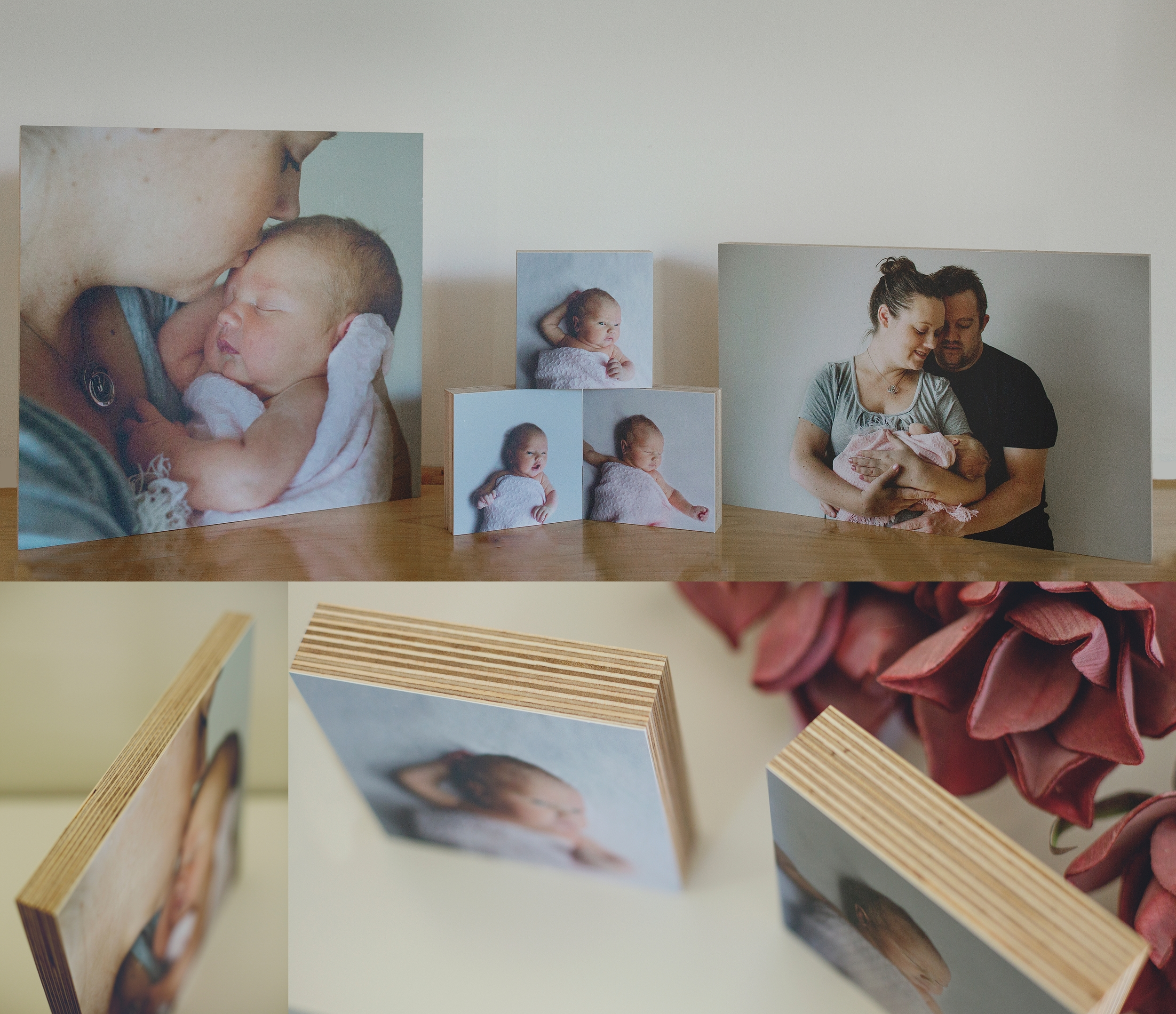 Family Photos printed on birch wood blocks!